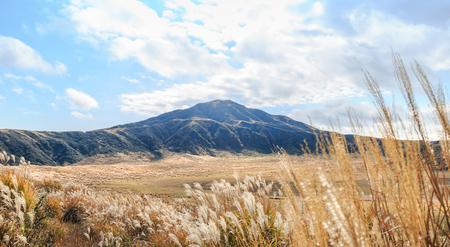 The surrounding scenery of Kusasenri grassland in Mount Aso on  NOV 11,2015 in Kumamoto, Japan.