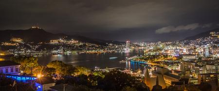 NAGASAKI, JAPAN- NOVEMBER 9, 2015: Viewpoint of Nagasaki city on November 9, 2015  in Nagasaki , japan