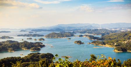 99 islands in Sasebo, Nagasaki, Japan. Stock Photo