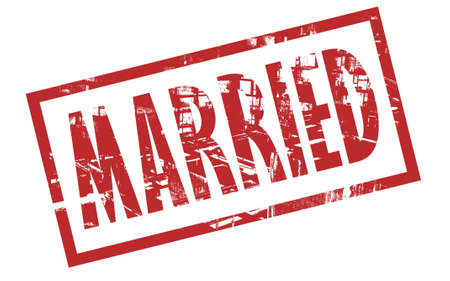 married: Married stamp on a white background
