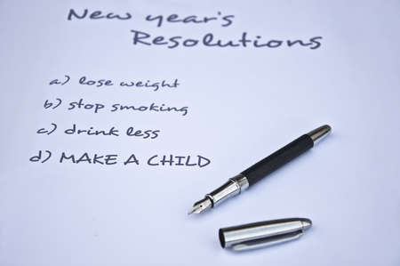 New year resolution of making  a child Stock Photo - 8287160