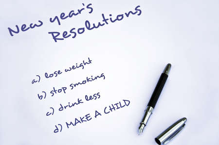 New year resolution of making  a child Stock Photo - 8287158