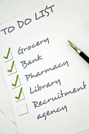things to do: Recruitment agency not checked in to do list