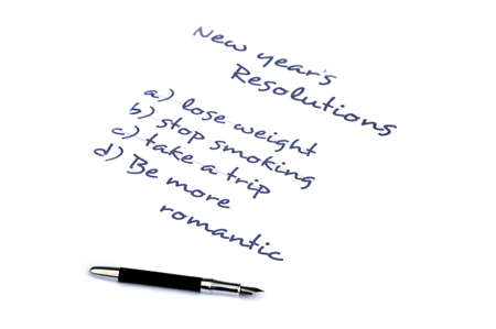 Be more romantic new year's resolution Stock Photo - 8287156