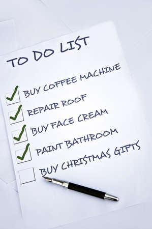 Tod do list with