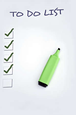 Blank to do list and a marker Stock Photo - 8350268