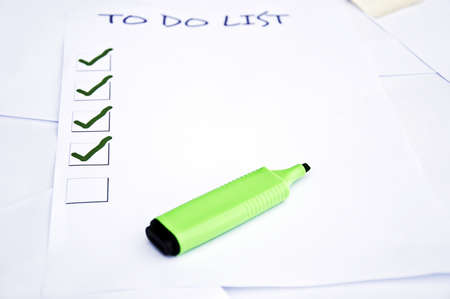 Blank to do list and a marker Stock Photo - 8350274