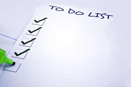 organise: En blanco a la lista de tareas y un marcador