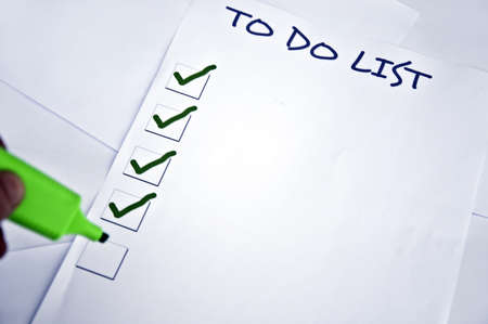 Blank to do list and a marker Stock Photo - 8356600