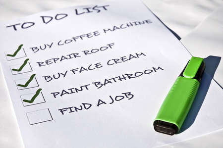 To do list with