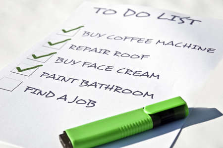 find a job: To do list with find a job Stock Photo