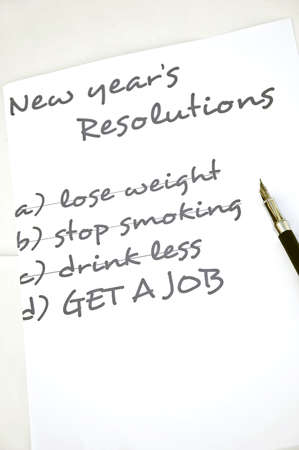resolutions: New year resolution get a job