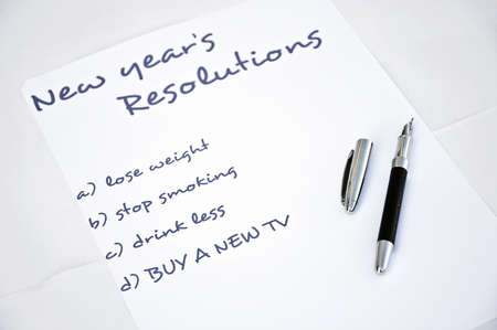 New year resolution buy a new tv Stock Photo - 8356203
