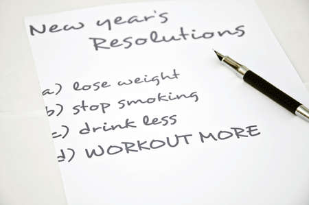 organising: New year resolution workout more Stock Photo