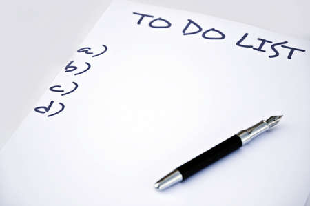 New year resolution and a pen Stock Photo - 8350272
