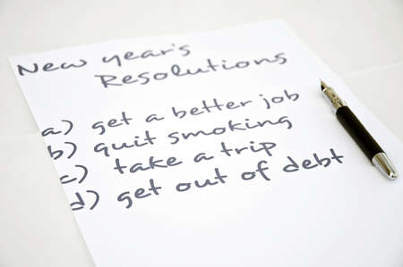 New year resolution with get out of debt photo