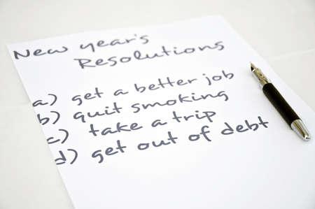 recordar: Resoluci�n de a�o nuevo con get out of deuda Foto de archivo