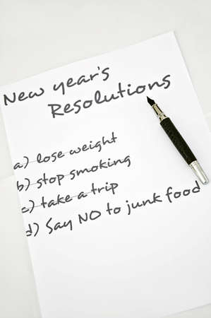 New year resolution say no to junk food Stock Photo - 8356199