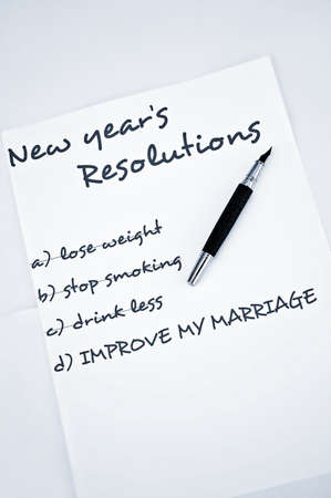 organising: New year resolution improve marriage Stock Photo