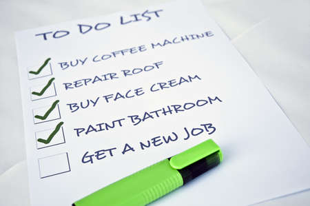 To do list with get new job Stock Photo - 8357088