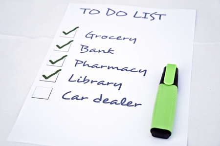To do list with car dealer Stock Photo - 8356959