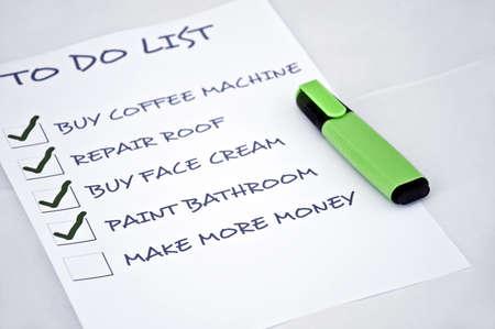 hacer: Lista de tareas con hacer más dinero