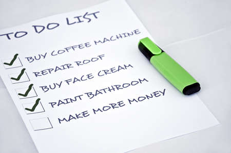To do list with make more money Stock Photo - 8357021