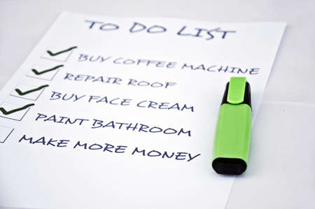 To do list with make more money Stock Photo - 8356970