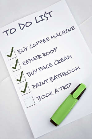 To do list with book a trip Stock Photo - 8357104