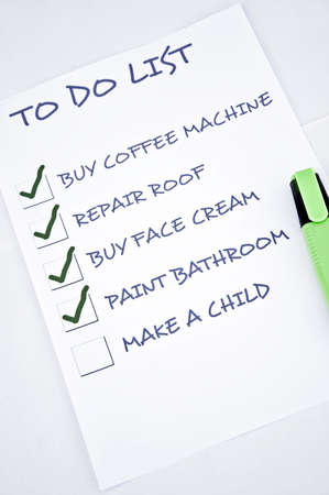 To do list with make a child photo