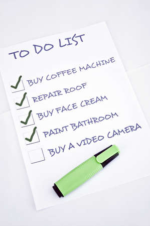To do list with buy video camera Stock Photo - 8356928
