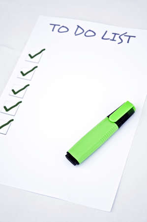 Blank to do list  and a marker Stock Photo - 8356873