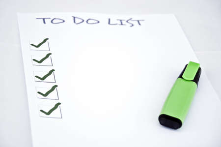 Blank to do list  and a marker Stock Photo - 8356872
