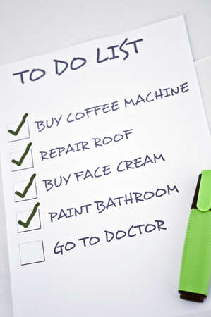 To do list with go to doctor Stock Photo - 8357011