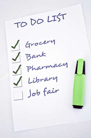 To do list with job fair Stock Photo - 8356937