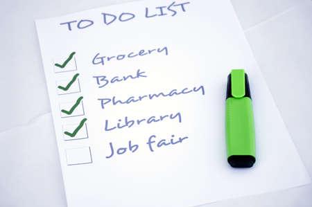To do list with job fair Stock Photo - 8357074