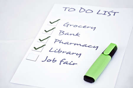 To do list with job fair Stock Photo - 8356881