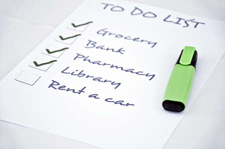 To do list with rent a car Stock Photo - 8356926