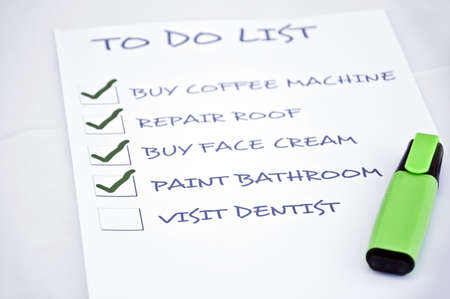To do list with visit dentist Stock Photo - 8356927