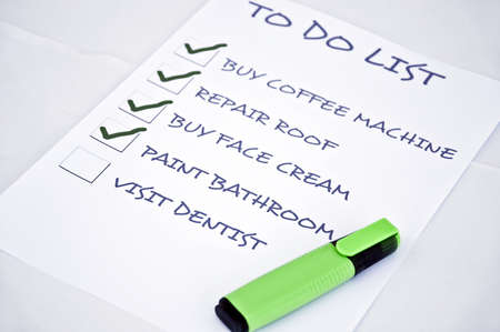 To do list with visit dentist Stock Photo - 8357013