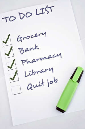job posting: To do list with quit job Stock Photo