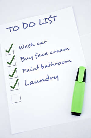 To do list with unfilled last thing to do Stock Photo - 8356932