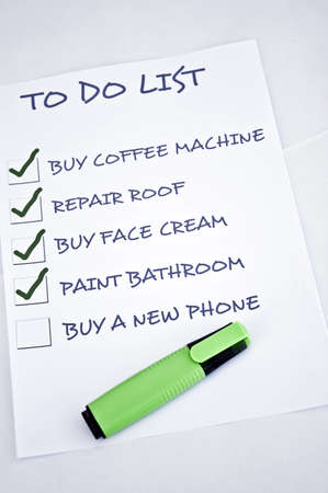 To do list with buy a new phone Stock Photo - 8357020