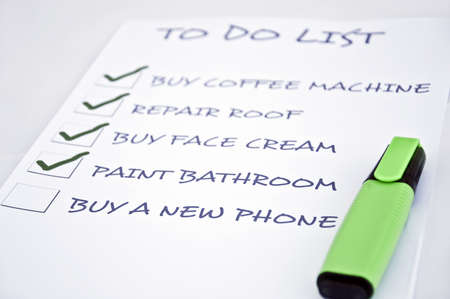 To do list with buy a new phone photo