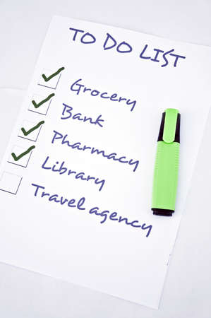 To do list with travel agency Stock Photo - 8356961