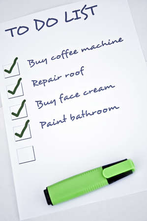 To do list with unfilled last thing to do Stock Photo - 8357010