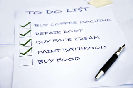 To do list with buy food Stock Photo - 8357019