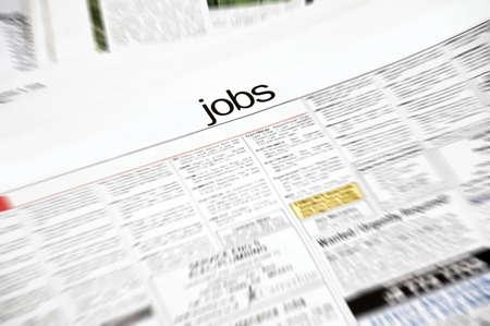 job recruitment: Job ads in newspaper  page Stock Photo