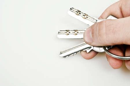 Isolated set of keys on key ring photo