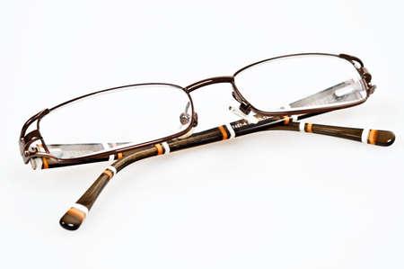 bifocals: Isolated eye glasses on white background